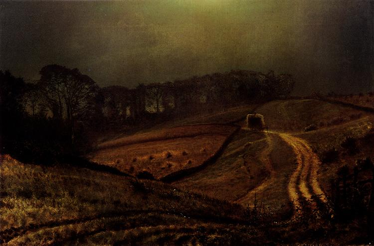 Under The Harvest Moon, 1872 - John Atkinson Grimshaw