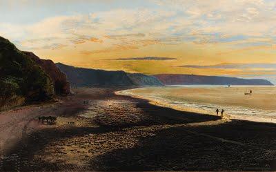 Whitby Sands, sunset - John Atkinson Grimshaw