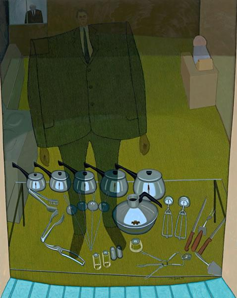 Inside and outside (The shop window), 1972 - John Brack