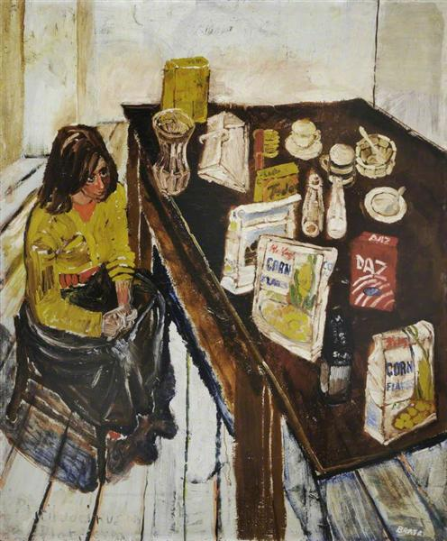Jean and Table Top (Girl in a Yellow Jumper) - John Bratby