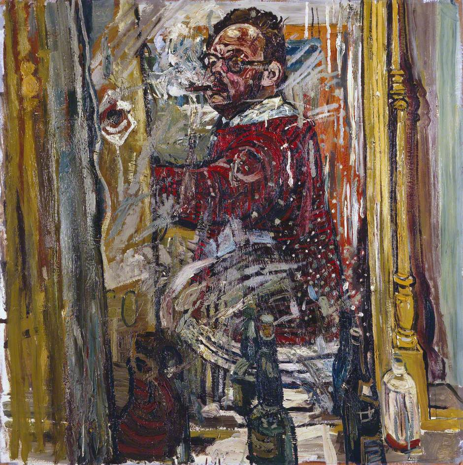 Self Portrait In A Mirror 1957 John Bratby