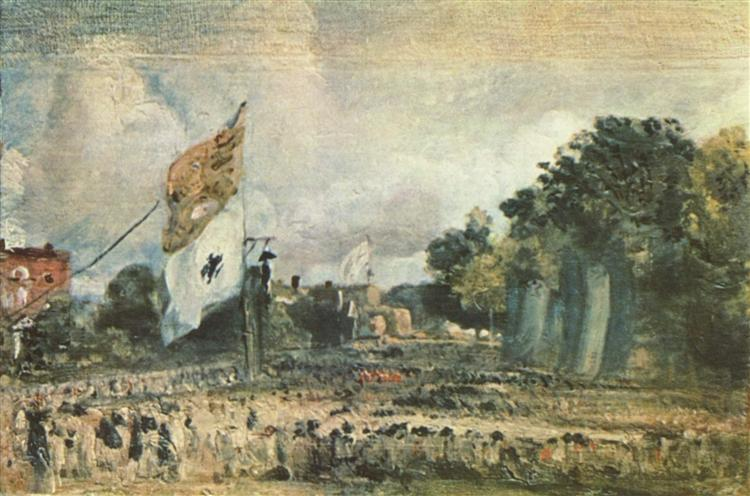 Celebration of the General Peace of 1814 in East Bergholt, 1814 - John Constable