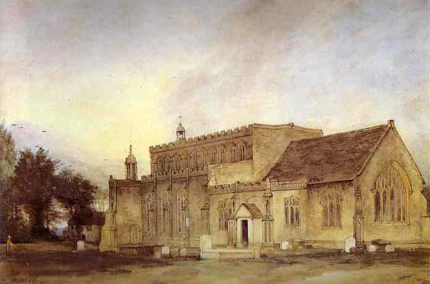 East Bergholt Church, 1811 - John Constable