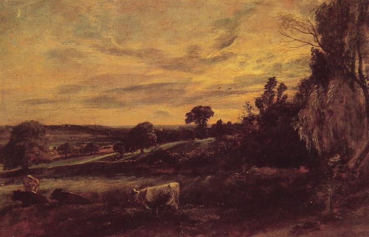 Landscape Evening, c.1812 - John Constable
