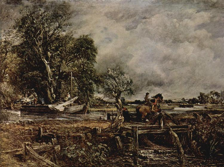 The Leaping Horse, c.1825 - John Constable