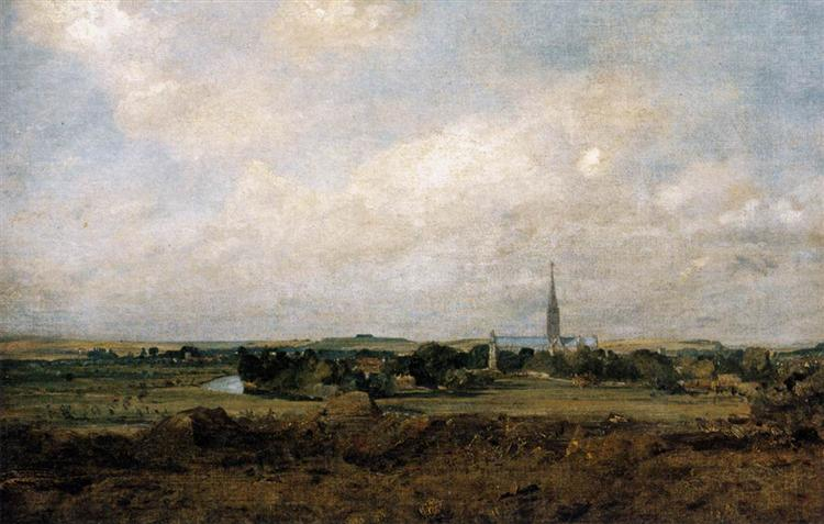 View of Salisbury, c.1820 - John Constable