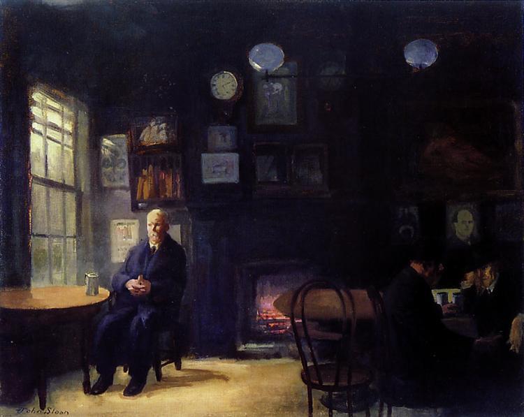 Back Room, 1912 - John French Sloan