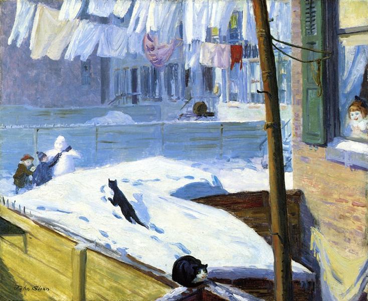 Backyards, Greenwich Village, 1914 - John French Sloan