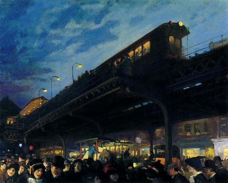 Six O'Clock, Winter, 1912 - John French Sloan