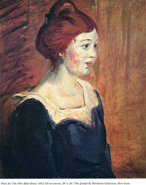 The New Blue Dress, 1913 - John French Sloan
