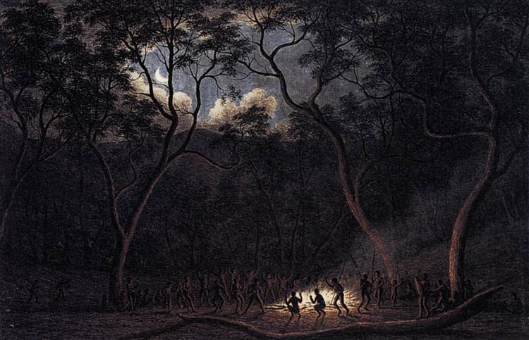 A Corroboree in Van Diemen's Land, 1840 - Джон Гловер