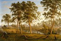 Natives on the Ouse River, Van Diemen's Land - Джон Гловер