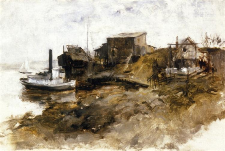 Harbor View, 1879 - John Henry Twachtman