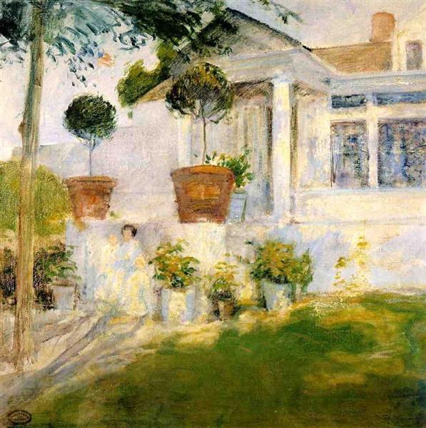 The Portico, c.1897 - c.1899 - John Henry Twachtman