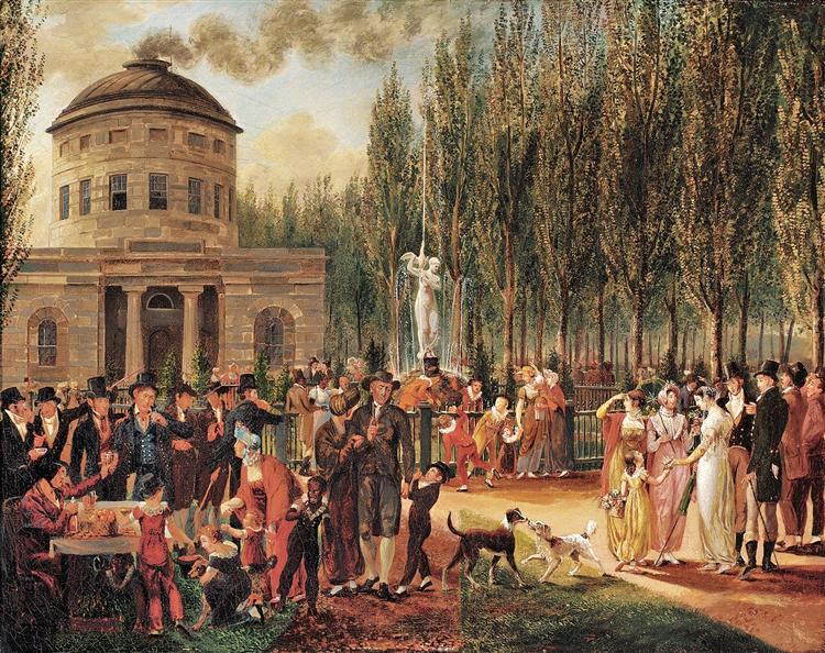 Fourth of July in Centre Square Philadelphia, 1812 - John Lewis Krimmel