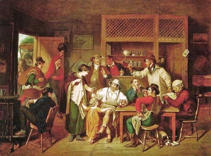 In an American Inn, 1814 - John Lewis Krimmel