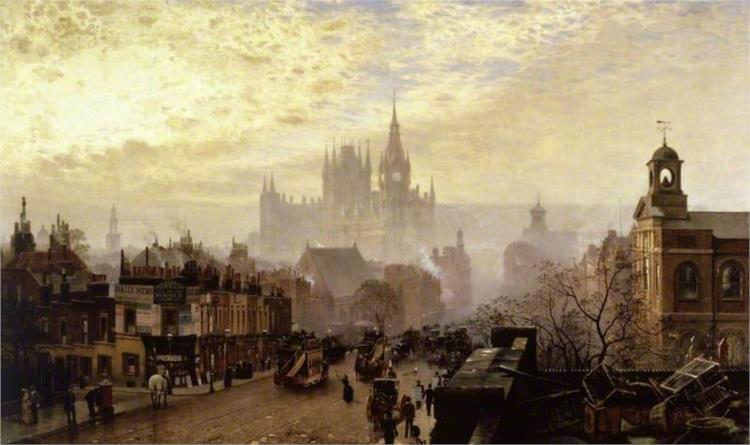 From Pentonville Road Looking West, London, Evening - John O'Connor