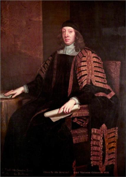 Sir Harbottle Grimston, Speaker - John Riley