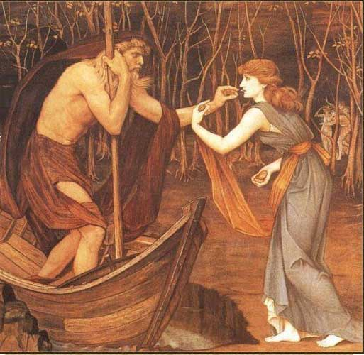 Charon and Psyche, 1883 - John Roddam Spencer Stanhope