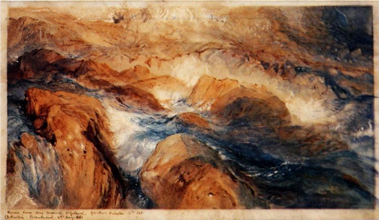 Rocks in Unrest, 1855 - John Ruskin