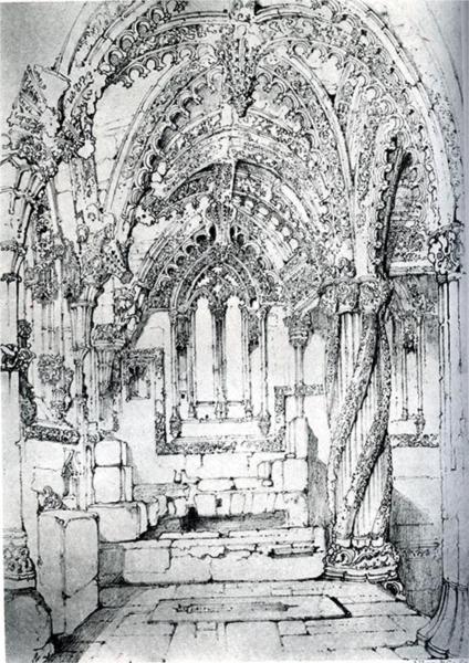 Roslin Chapel, 1838 - John Ruskin