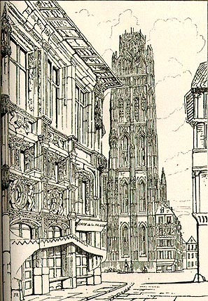 The Cathedral Spire Rouen, 1835 - John Ruskin