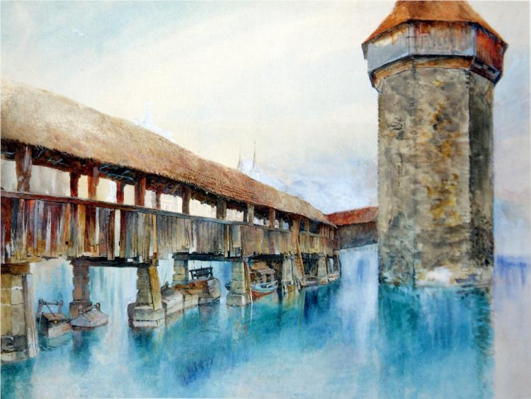 The Kapellbrücke, Lucerne - John Ruskin