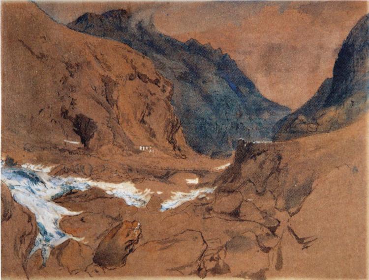 The Pass of Faido Ruskin, 1845 - John Ruskin