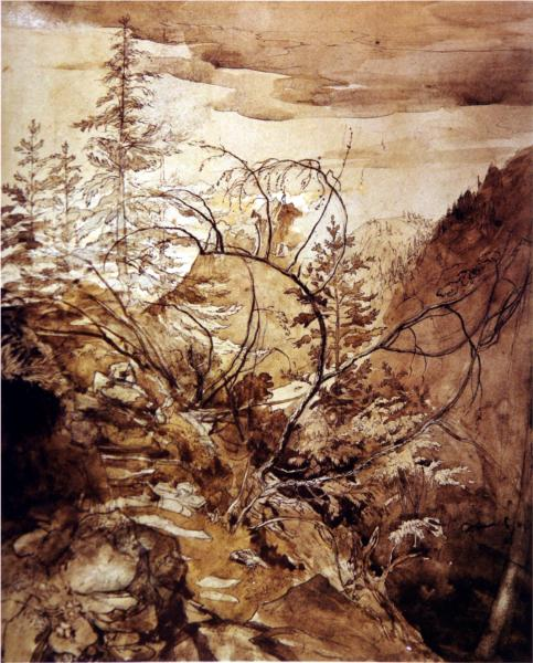 Trees and Rocks, 1845 - John Ruskin