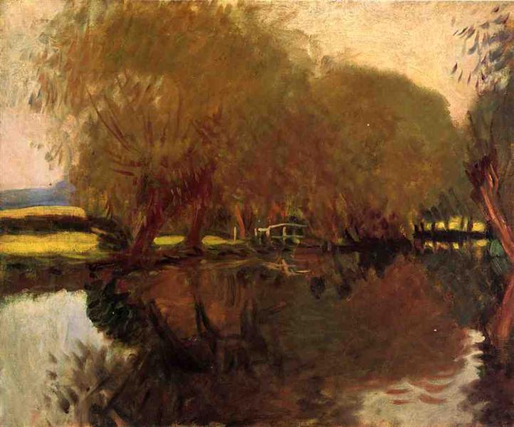 A Backwater at Calcot Near Reading, 1888 - John Singer Sargent