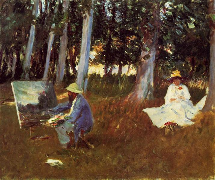 Claude Monet Painting by the Edge of a Wood, 1885 - John Singer Sargent