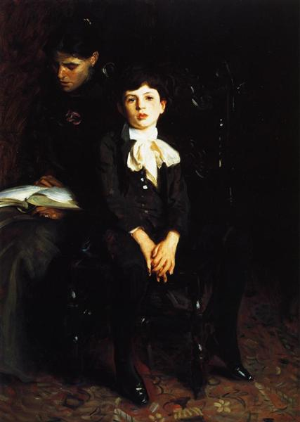 Homer Saint Gaudens and His Mother, 1890 - John Singer Sargent