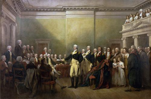 General George Washington Resigning his Commission - John Trumbull