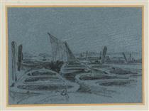 Thames Wharves and Barges None - Джон Варлі