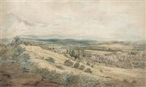 View of Bodenham and the Malvern Hills, Herefordshire - Джон Варлі