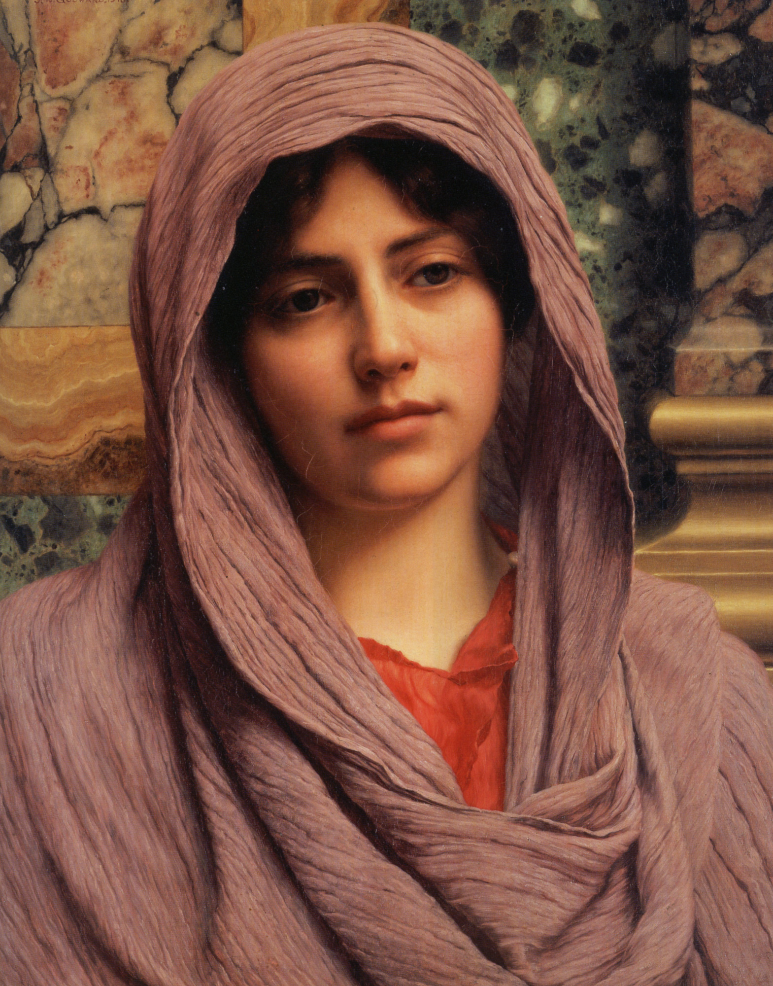 Lycinna by John William Godward, 1918