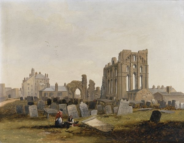Tynemouth Priory from the East, 1845 - John Wilson Carmichael