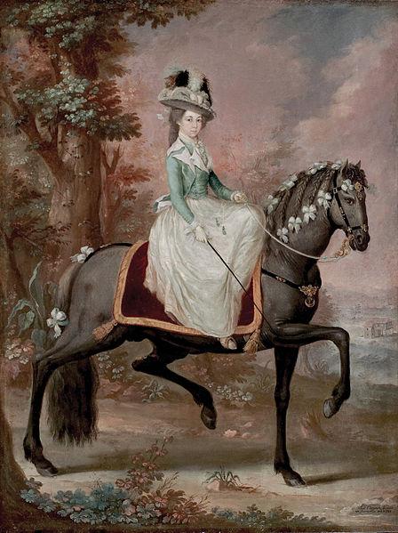 Dama a Caballo, 1785 - Jose Campeche