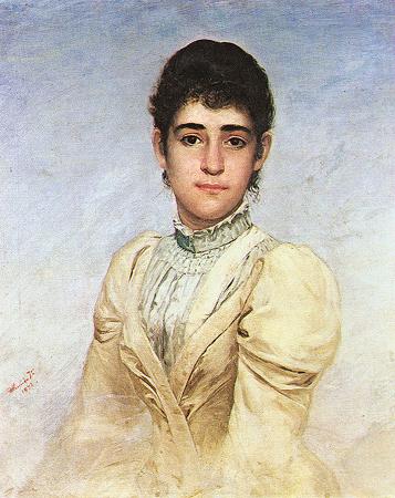 Portrait of Joana Liberal da Cunha, 1892 - Jose Ferraz de Almeida Junior