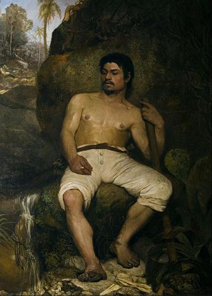 The Brazilian lumberjack, 1875 - José Ferraz de Almeida Júnior