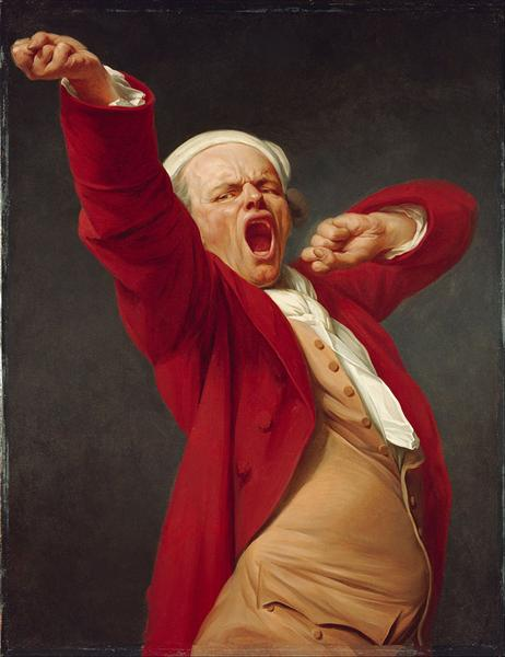 Self-portrait, yawning, 1783 - Joseph Ducreux