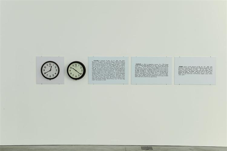 Clock (One and Five), 1965 - Joseph Kosuth