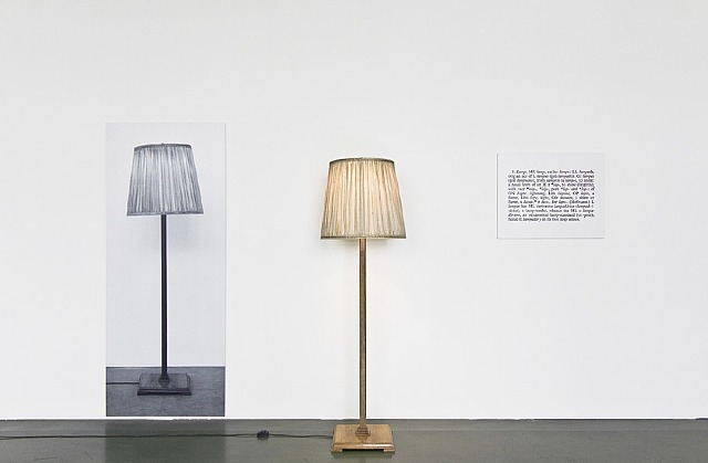 One and Three Lamps, 1965 - Joseph Kosuth
