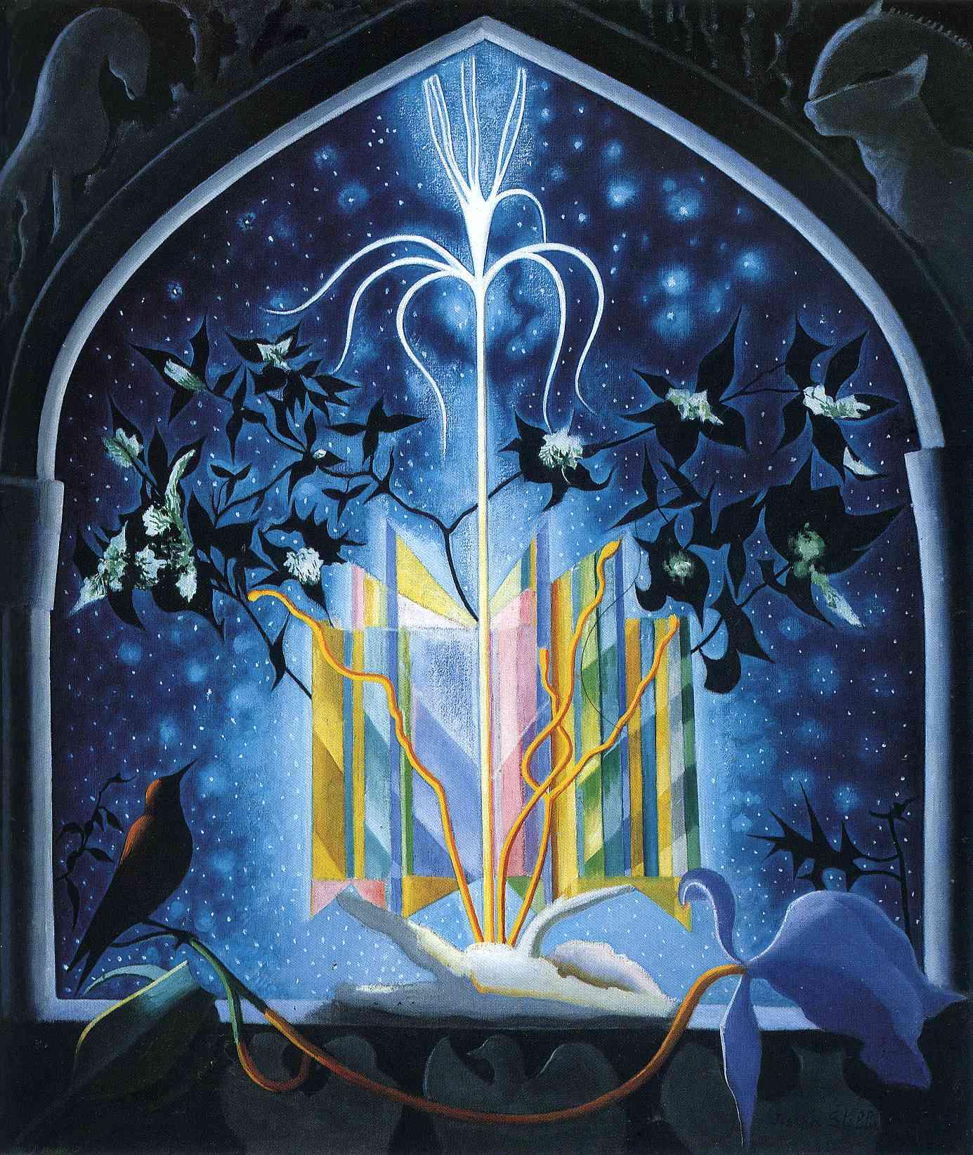 Serenade, A Christmas Fantasy - Joseph Stella - WikiArt.org
