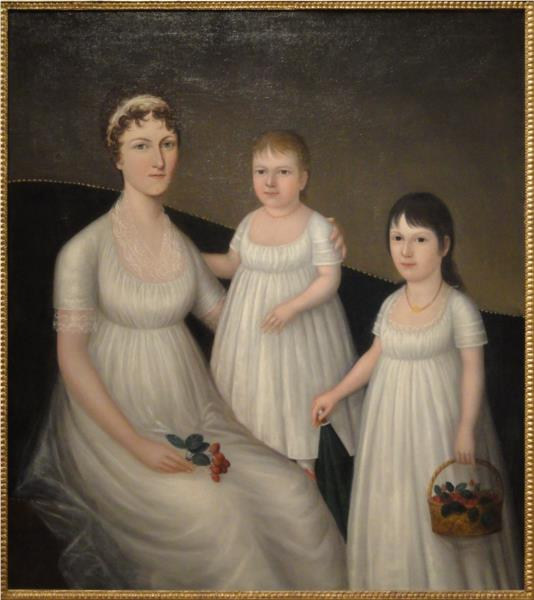 Grace Allison McCurdy and Her Daughters, 1804 - Joshua Johnson