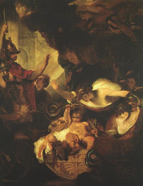 The Infant Hercules Strangling Serpents in His Crade, c.1786 - c.1788 - Joshua Reynolds