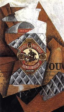 The Bottle of Anis del Mono - Juan Gris