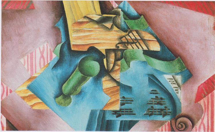Violine and glass, 1913 - Juan Gris