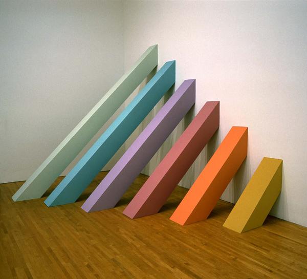Rainbow pickett judy chicago for Minimal art installation
