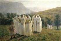 Young Women Going to a Procession - Jules Breton